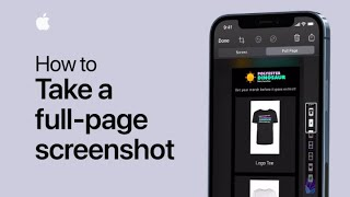 How to take a full-page screenshot on your iPhone or iPad — Apple Support