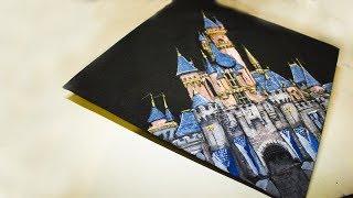 Painting a Castle! on a graduation CAP