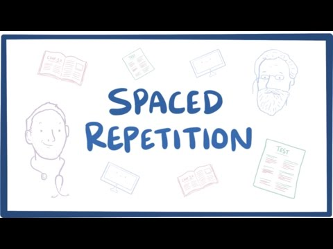 Spaced repetition in learning theory