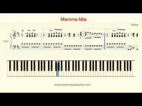 "How To Play Piano: Abba ""Mamma Mia"" Piano Tutorial by Ramin Aria Yousefi"