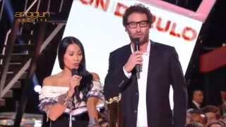Anggun & Manu Levy presents Best Group/Duo Vocal at NRJ Music Awards 2015 to Maroon 5