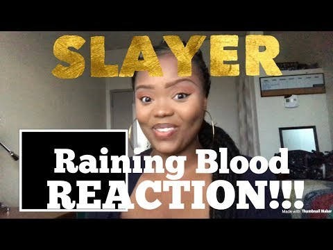 Slayer- Raining Blood REACTION!!!