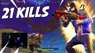 Solo Escopeta, 21 kills (Solo vs Squad) - FORTNITE
