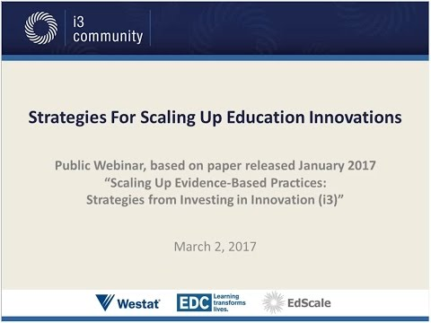 Strategies for Scaling Up Education Innovations