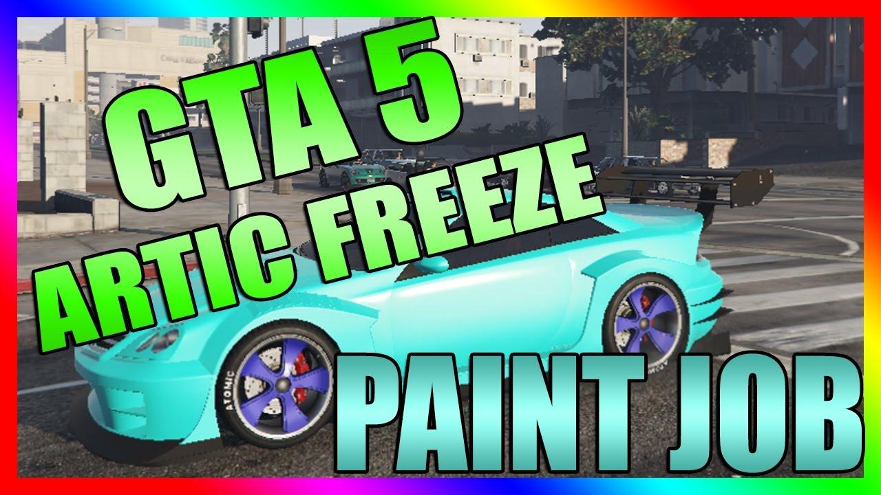Gta 5 Paint Job Glitch (RARE Artic Freeze) COLOR GUIDE - YouTube