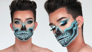 NEON SKULL HALLOWEEN MAKEUP TUTORIAL