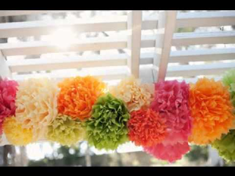 Easy Homemade wedding decorations - YouTube
