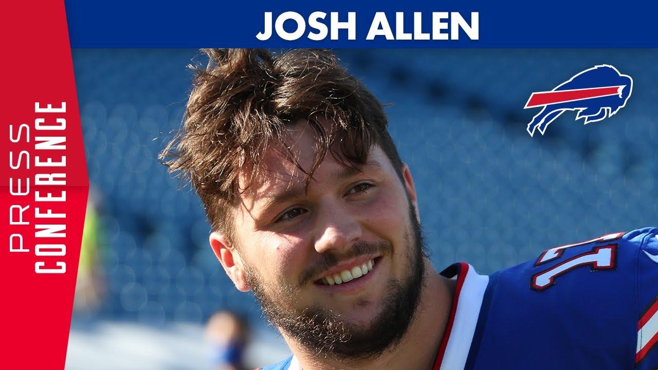 Josh Allen Post Victory Over Seahawks Buffalo Bills Youtube