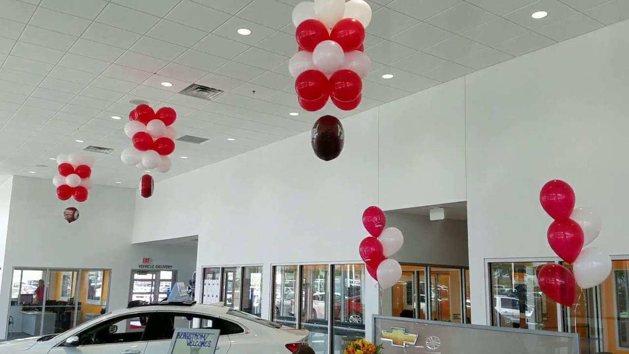 Chevy New Dealership Balloon decorations for car