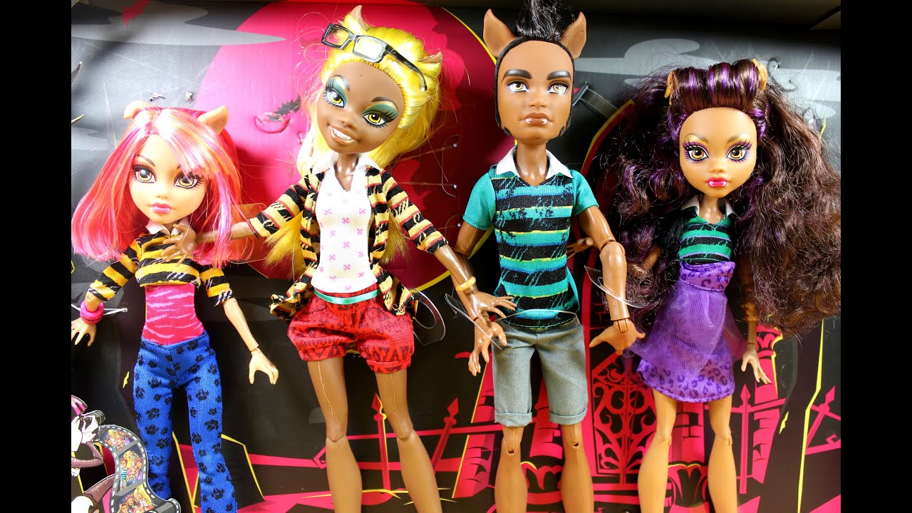 Wolf Family Toy : Mattel monster high a pack of trouble set wolf