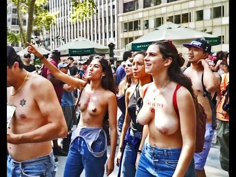Topless Parade Part 1 --- New York filmed on Saturday August 26 2017