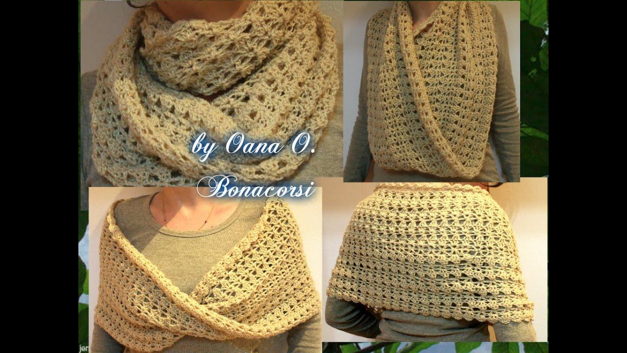 crochet infinity shawl - YouTube