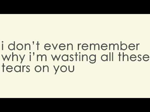 Wasting All These Tears lyric video