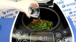 Рецепт приготовления тушеного мяса со стручковой фасолью в мультиварке VITEK VT-4209 BW