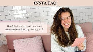 Heeft het zin om zelf ook veel mensen te volgen op Instagram?