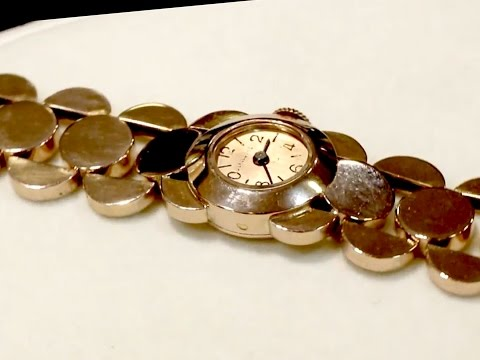 18 ct Rose Gold 'La Cloche' Ladies Watch - Antique French 1933 - AC Silver A1803