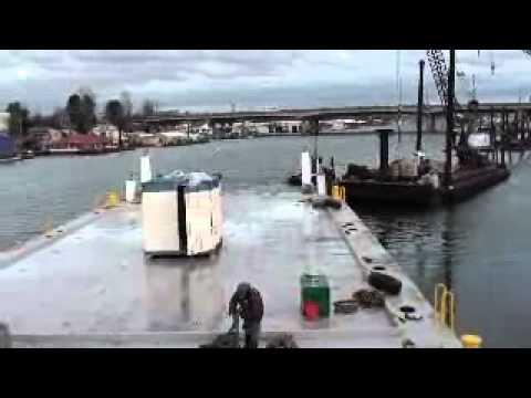 Port of Portland Heavy Equipment Barge launch