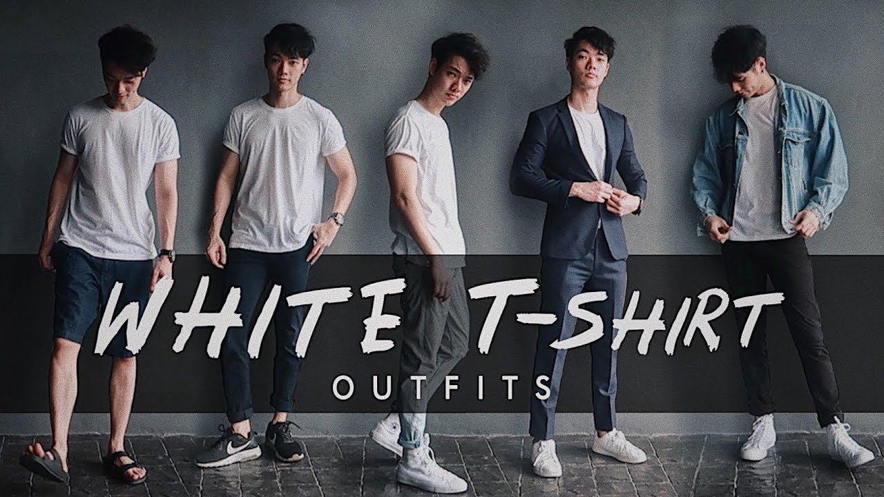 แต่งตัวให้ดูดีง่ายๆ ด้วยเสื้อยืดสีขาว | Here's Jae