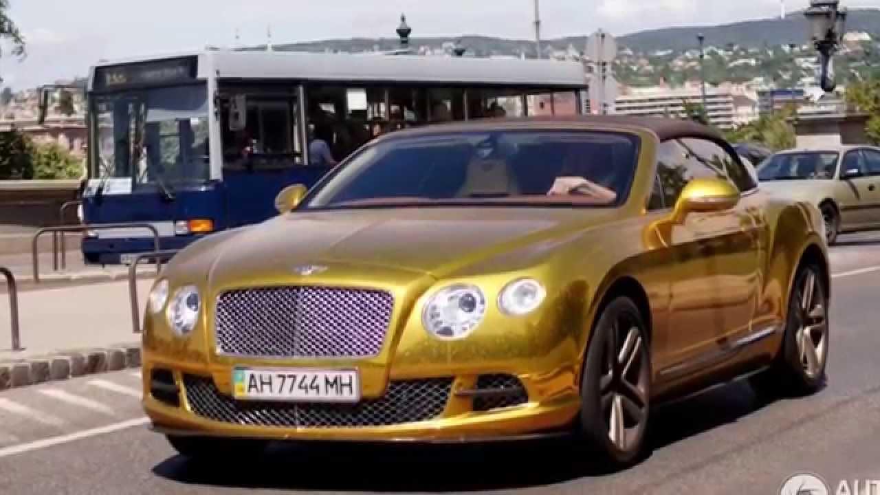 В Киеве засняли золотой Bentley с обшитым крокодиловой кожей капотом |  ТопЖыр