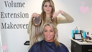 Hair replacement extension topper hairpiece makeover transformation