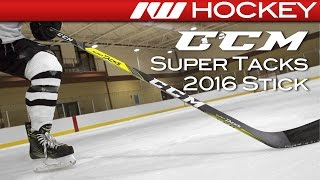 ccm super tacks stick on ice review