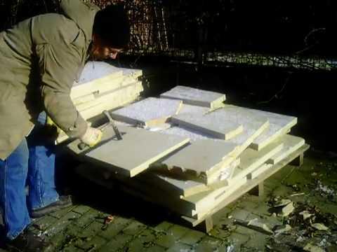 sandsteinplatten zuschlagen youtube. Black Bedroom Furniture Sets. Home Design Ideas