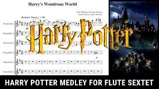 Harry Potter Medley for Flute Sextet