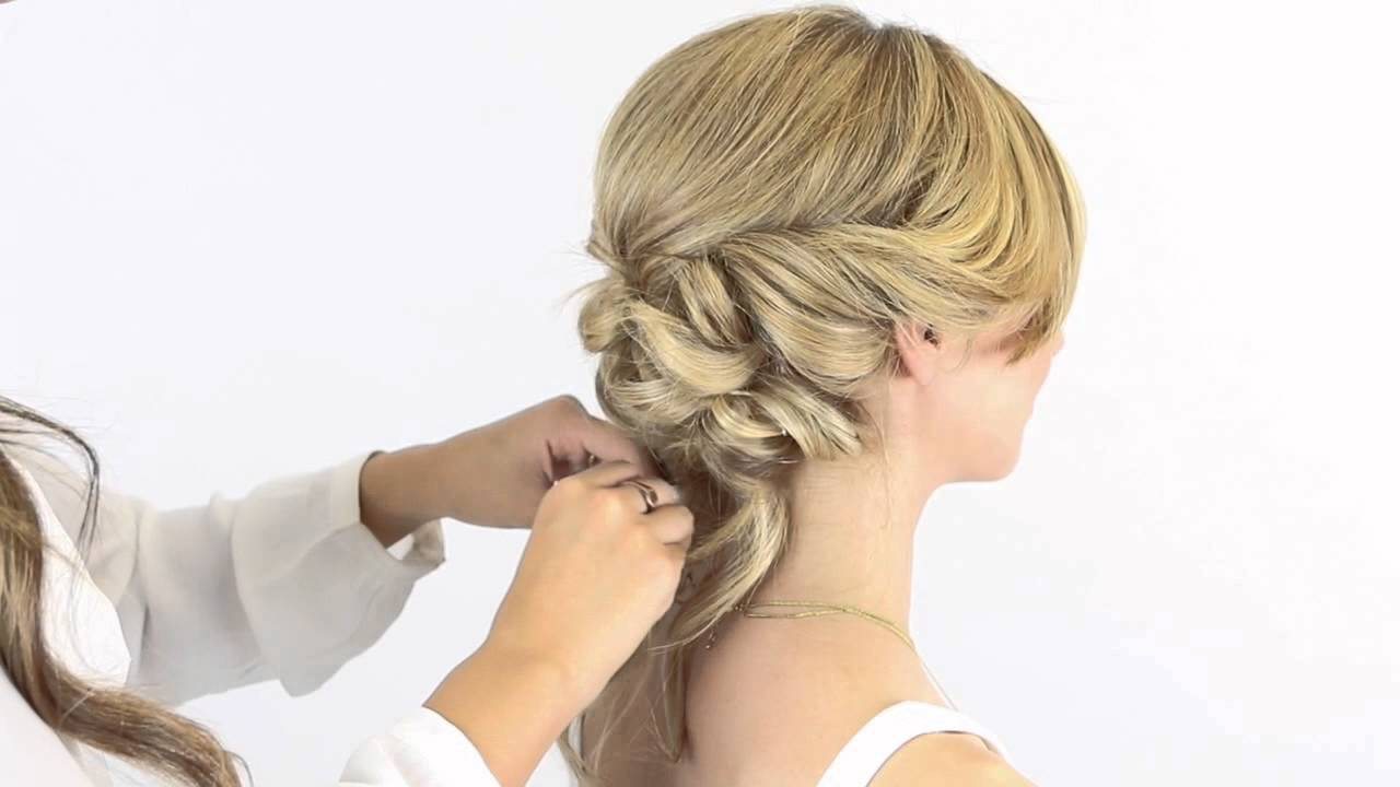 Bridal Inspired Up Do With Halocouture Extensions Youtube