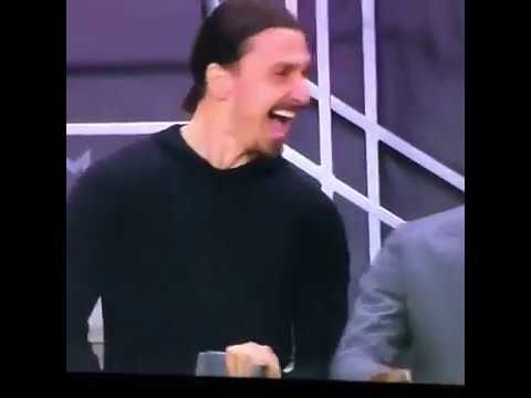 Ibrahimovic's hilarious reaction to mkhitaryan europa league goal against ajax final with bailly