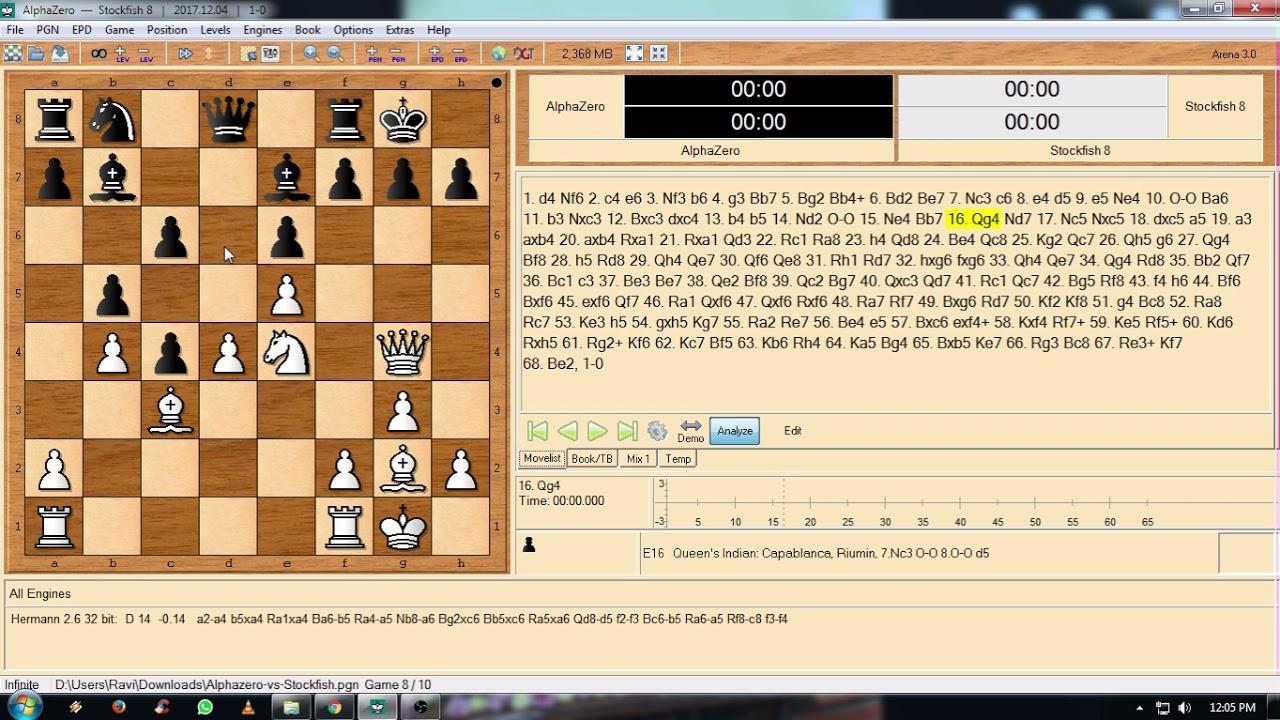Game 9 Alpha zero vs Stockfish