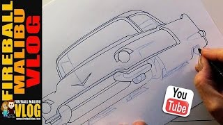 How to draw a Cool #CADILLAC! - FMV476