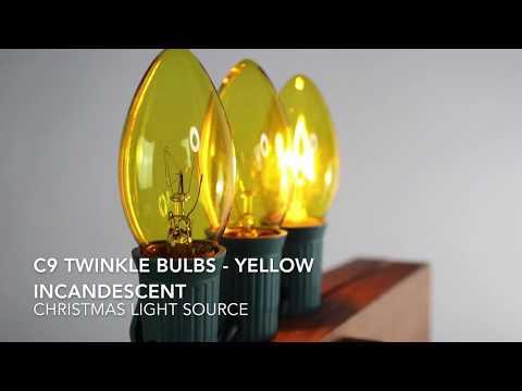 Yellow C9 Twinkle Bulbs