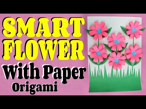 How To Make Flower Bucket With Paper (Origami) || Easy & Simple Tutorial || Craftyhood VD # 033