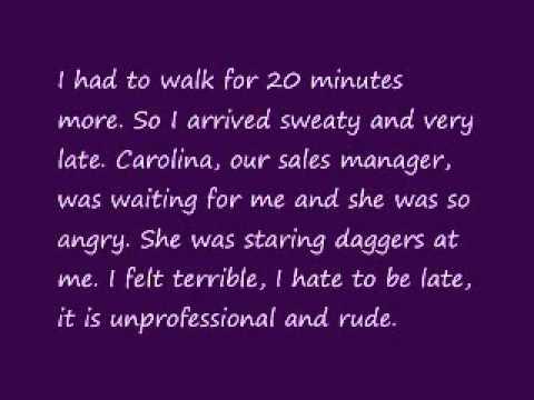 English Shadowing Training - Sarah Jenkins's Diary 2