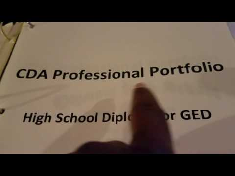 Cda Professional Portfolio Binder