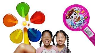 Mukbang Pinwheel Candy 바람개비 캔디 TwinRoozi Family 쌍둥이루지 가족 먹방  Mukbang