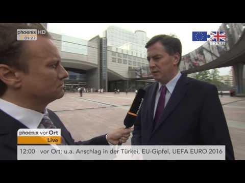 EU-Gipfel Brexit-Votum: David McAllister im Tagesgespräch am 29.06.2016