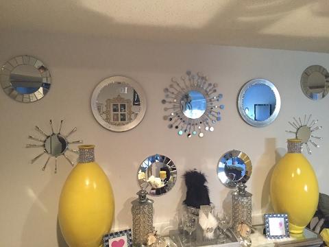 Diy Glam Wall Decor/ Mirror Gallery