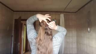 Morning Hair: half up hypno bun with hairsticks