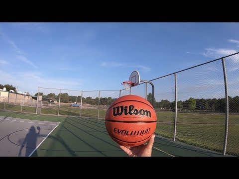 morning-basketball-shooting-practice-🏀-wilson-evolution-game-ball-gopro-hero-6-black-july-7,-2018