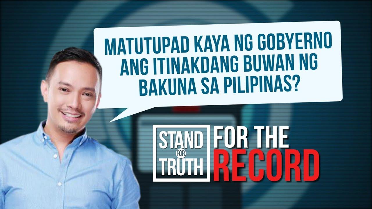 Stand for Truth: Itinakdang buwan ng bakuna sa bansa, matupad kaya?