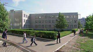 Ученики казанской гимназии №175 вернулись к учебе в соседнюю школу.