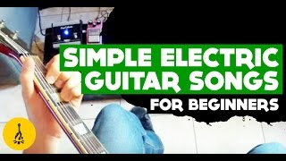 Simple Electric Guitar Songs For Beginners - Guitar Lesson Very Easy