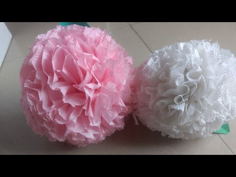 How to make Round Tissue Paper Flower | DIY Paper Craft | Homemade Creations | Easy Tissue Art