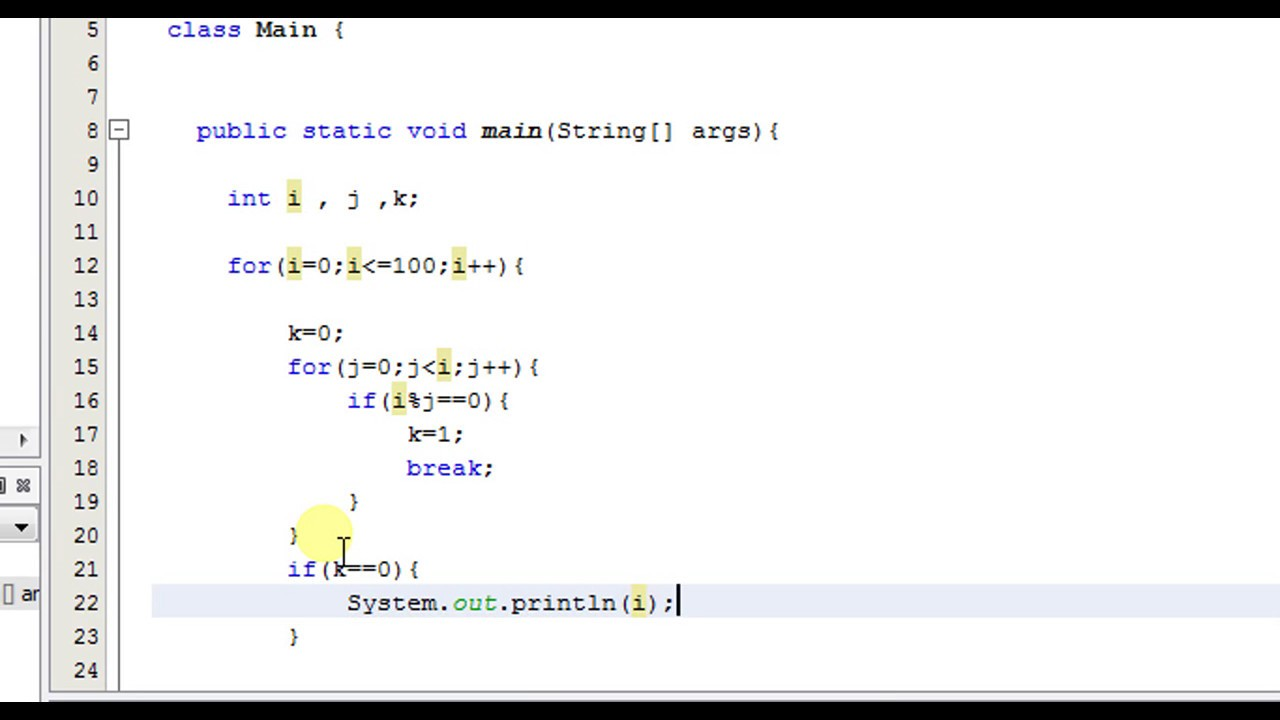 prime number program in c# using array