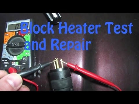 testing and repairing a block heater cord a real easy fix youtube rh youtube com wiring block heater Electric Baseboard Heater Wiring Diagram