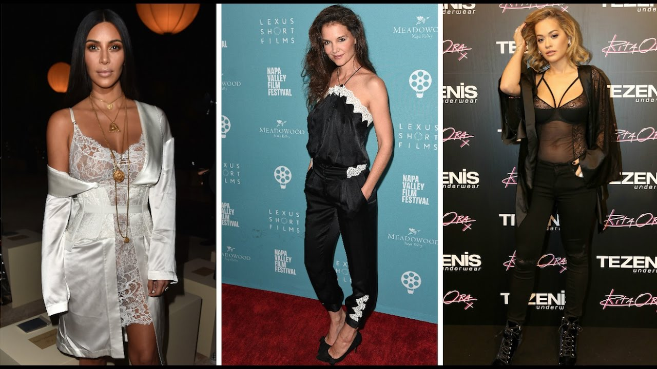 8830e2ead85c1 How Celebrities Are Wearing Lingerie - YouTube