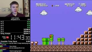 (22:20.52) Super Mario Bros.: The Lost Levels Warpless 8-4 speedrun *Former World Record*