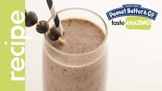 Peanut Butter & Blueberry Smoothie Recipe