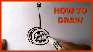 How to Draw a Cartoon Yo yo | Drawing for Kids and Toddlers - Simple Drawing - Step By Step